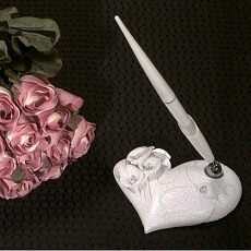 Calla Lily Pen Set with Crystal Accents