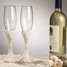Beach Theme Toasting Glasses