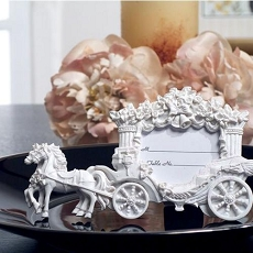 White Place Card Frame Wedding Coach