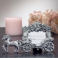 Pewter Finish Place Card Frame Wedding Coach