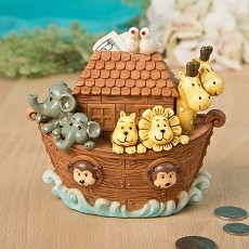 Adorable Noah'S Ark Bank From Gifts By Fashioncraft