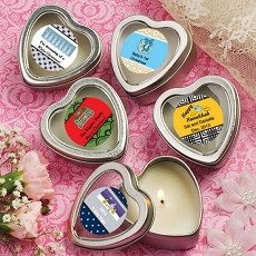 Personalized Expressions Scented Heart Travel Candles-Holiday