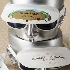 Personalized Collection White Sunglass/Visor Combination