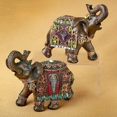 Set of 2 Indian Elephants from Gifts by Fashioncraft