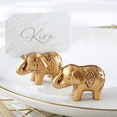 Lucky Golden Elephant Place Card Holders (6)
