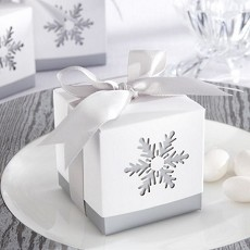 Laser-Cut Snowflake Box (Set of 24)
