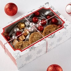 Silver Foil Snowflake Holiday Treat Box (Set of 12)