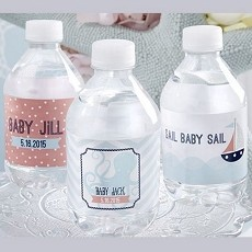 Personalized Water Bottle Labels - Nautical Baby