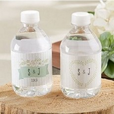 Personalized Water Bottle Labels - Rustic Wedding
