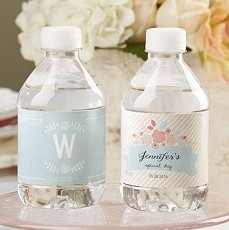 Personalized Water Bottle Labels - Rustic Bridal