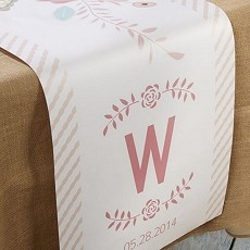 Personalized Table Runner - Rustic Bridal  (Multiple Sizes Available)