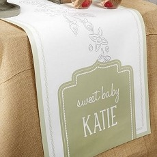 Personalized Table Runner - Rustic Baby Shower