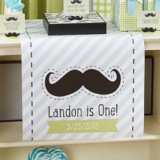 Personalized Table Runner- Little Man -Mustache Design
