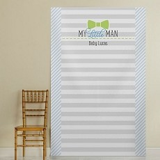 Little Man Personalized Photo Booth Backdrop-Bowtie
