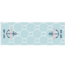 Personalized Table Runner -  Nautical Baby - Rope