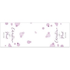 Personalized Orchid Dots Table Runner