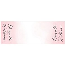 Personalized Pink Water Color Table Runner