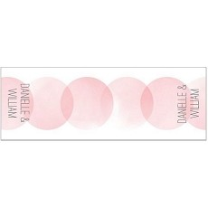 Personalized Pink Circle Table Runner