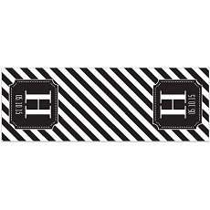 Personalized Black Stripe Table Runner
