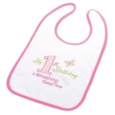 First Birthday Bib - Pink
