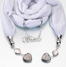 Bride Scarf - White