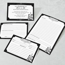 Black and White Recipe Cards-Set/24
