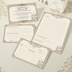 St/24 Recipe Cards - Tan