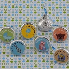 Personalized Boy Baby Shower Hershey's Kisses Labels (Set of 108)