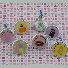 Personalized Girl Baby Shower Hershey's Kisses Labels (Set of 108)
