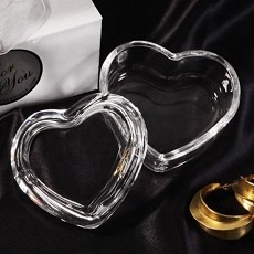 Shimmering Heart-Shaped Crystal Box