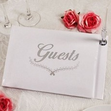 Love Guest Book w/Silver Accents