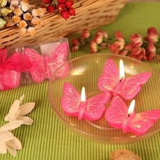 Spring Cheer Butterfly Candle Set of 3 (3 colors)