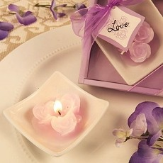 Lovely Little Roses Candles w/Tray (6 colors)