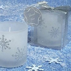 Winter Wonderland Frosted Votive