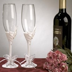 Butterfly Theme Toasting Glasses