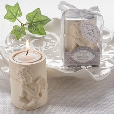 Angel Wishes Cherub Tea Light Candle Holder Favor