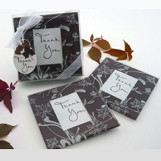 Falling Leaves Leaf Themed Glass Photo Coasters (Set of 2)