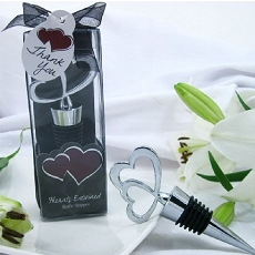 Hearts Entwined Double Heart Bottle Stopper in Designer Gift Box