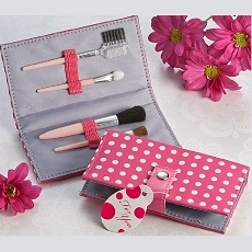 Pretty in Pink Polka Dot Makeup Brush Kit