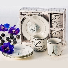 Paris is for Lovers Espresso Cup Favor Set