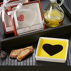 Love Infused Olive Oil and Balsamic Vinegar Dipping Plate