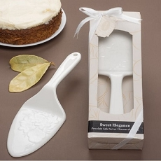 Sweet Elegance Porcelain Cake Server