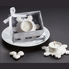 Winter Wonderland Porcelain Tea Light Candle Holder
