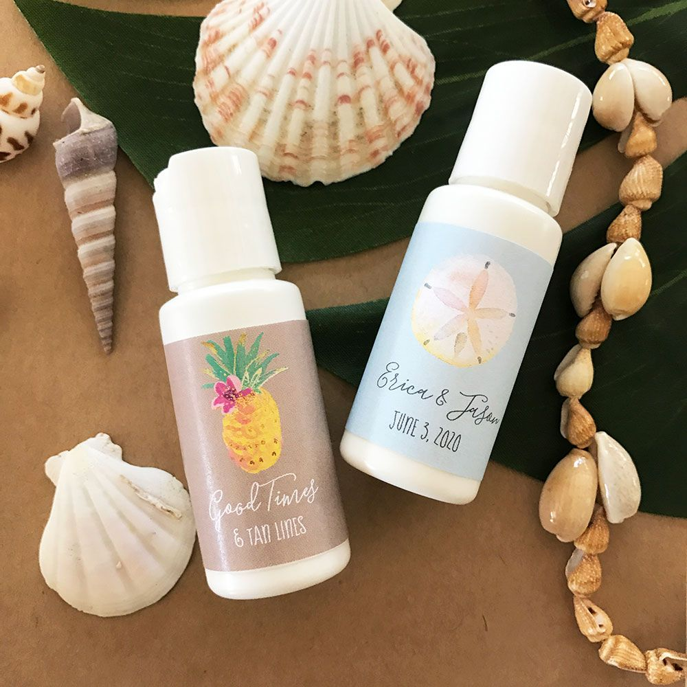 Personalized Tropical Beach Sunscreen