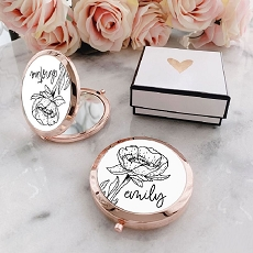 Personalized Floral Doodle Compacts