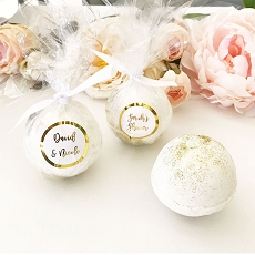 Foil Custom Bath Bomb Favors