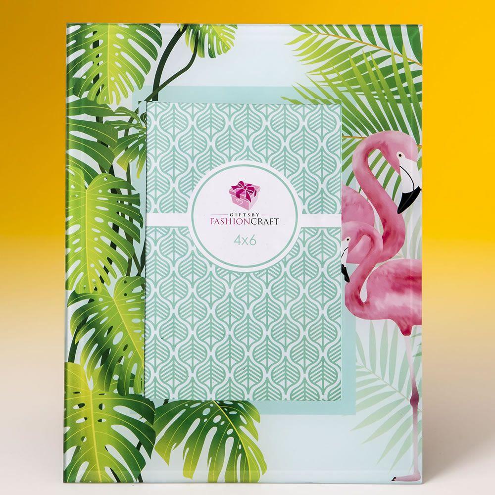Glass Flamingo 4X6 Frame|fashion craft|