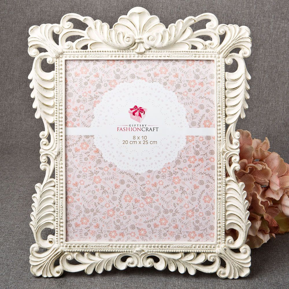 Brushed Gold Baroque Ivory 8 X 10 Frame|fashion craft|