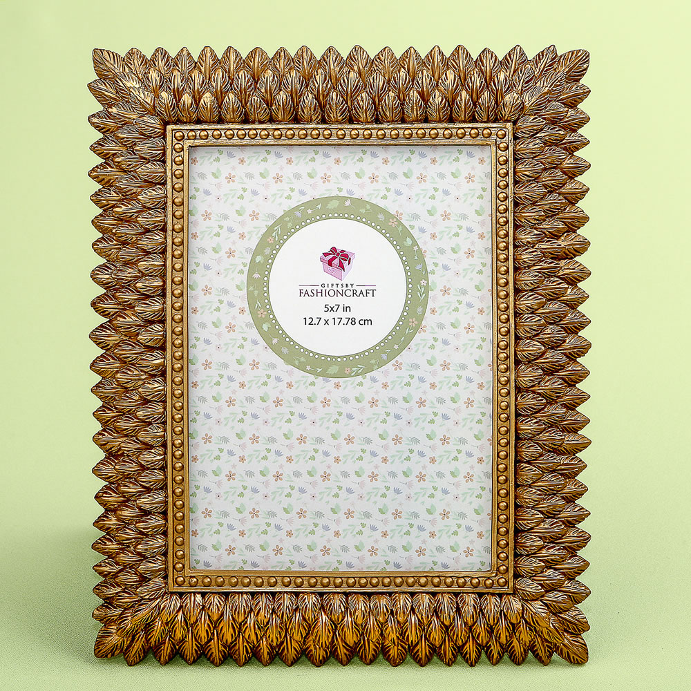 Brushed Gold Leaf Design 5 X 7 Frame|fashion craft|
