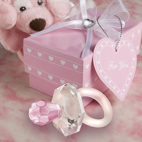 Pink Crystal Pacifier